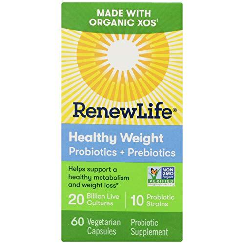 Renew Life, Probiotic Prebiotic Healthy Weight Organic, 60 Count