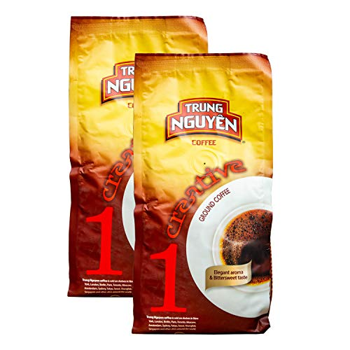 Trung Nguyen Vietnamese Coffee - 250 Grams (2 Pack) Creative Premium Vietnamese Gourmet Ground Coffee, Brewed in Phin Filter (Creative 1)