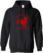 Men Sportswear Fashion Dirt Bike Motocross Rider Funny Sportswear Hoodies(Black,XL)