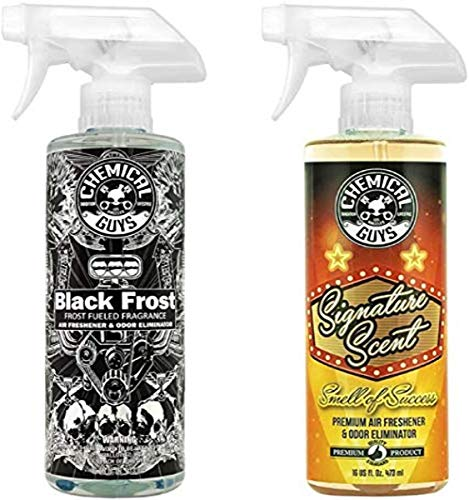 Chemical Guys AIR_302 Black Frost Scent and Signature Scent Combo Pack (16 oz)