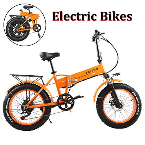 Logo Fat Tire Electric Bikes for Adult Magnesium Alloy Ebikes Bicycles All Terrain,20' 48V 350W 10Ah Hidden Design Lithium-Ion Battery Mountain E-Bike for Mens (Color : 350W, Size : 8Ah)