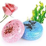 2 STÜCKE Hair Shampoo Bar, Phogary Haarseife (Rose + Seetang) Verschiedene Duftstoffe Essenz...