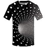 Camiseta Hombre Verano Manga Corta 3D Geometría Impresión Moda Originales Camiseta Casual T-Shirt Blusas Camisas Camiseta Cuello Redondo Suave básica Deporte Chándal Hombre Camiseta Tops vpass