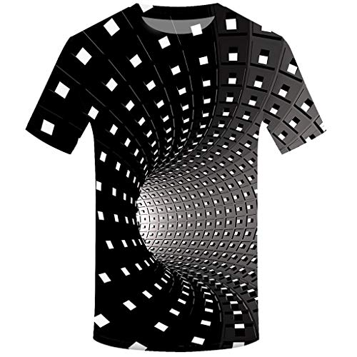 FRAUIT T-Shirt Herren 3D Druck Rundhals Kurzarm Shirt Lässig Lustig T Shirt Sommer Top Weich Bequem Oberteil Kleidung Bluse Mode Streetwear