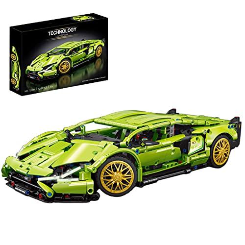 KEAYO Modelo de coche deportivo para Lamborghini Sian FKP 37 de carreras, técnica, coche grande, con bloques de montaje, compatible con Lego Technic