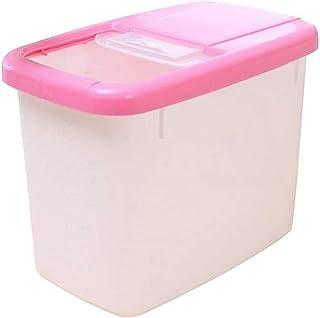 Conteneur de grain 10 kg de riz Boîte de rangement grains de céréales Distributeur de cuisine Organisateur Récipient en Ma...