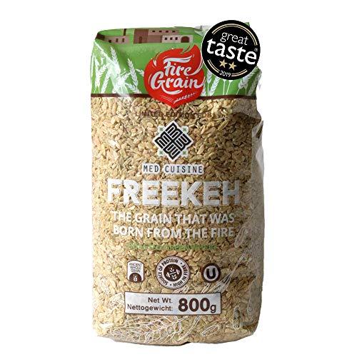 Grains entiers de blé vert Freekeh 800g Super aliment le plus nutritif/grains sains du monde - Saveurs de la Méditerranée. Profitez d'un succulent Freekeh végan à chaque repas!