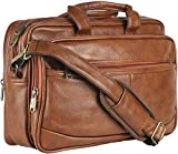 Thames by Lioncrown Faux Leather 14 inches Laptop Messenger Bag / Office Laptop Briefcase (Tan)