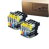 【横トナ オリジナル品】LC111-4PK×2 互換 インクタンク 4色が2パック ブラザー 対応機種:MFC-J980DN/DWN/MFC-J890DN/DWN/MFC-J870N/MFC-J820DN/DWN MFC-J720D/DW/DCP-J952N/DCP-J752N/DCP-J552N