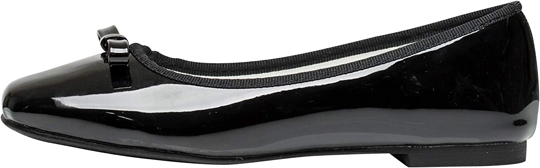 AnnaKastle Womens Square Toe Patent Ballet Flats Dress shoes