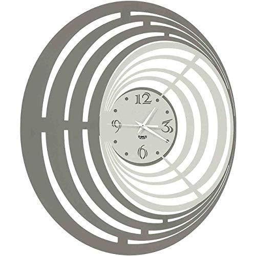 Arti e Mestieri Reloj excéntrico con líneas circulares Ciclón Negro Blanco
