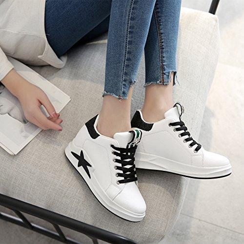 Wuyulunbi@ Fondo spesso scarpe bianco molla tirante cassoncino di pulizia scarpe