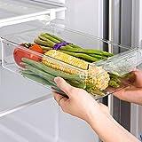 Cajones para frigoríficos, organizador para nevera, organizador transparente para frutas y huevos del cajón del frigorífico