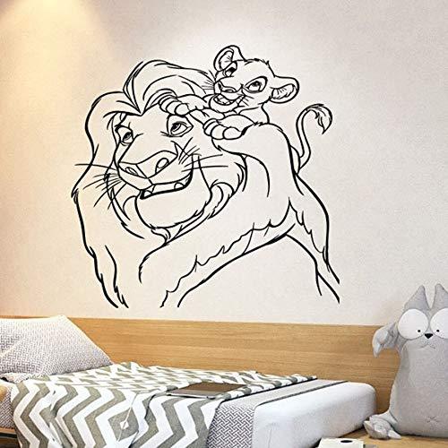 fdgdfgd Lion King Line Wandtattoo Cartoon Simba Vinyl Wandaufkleber Kindergarten Schlafzimmer Kinder Babyzimmer Home Decor Nette Wandkunst
