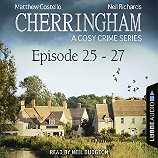 Cherringham - A Cosy Crime Series Compilation     Cherringham 25-27              By:                                                                                                                                 Matthew Costello,                                                                                        Neil Richards                               Narrated by:                                                                                                                                 Neil Dudgeon                      Length: 8 hrs and 25 mins     47 ratings     Overall 4.5