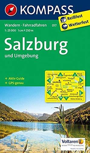 KOMPASS Wanderkarte Salzburg und Umgebung: Wanderkarte mit Aktiv Guide und Radwegen. GPS-genau. 1:25000 (KOMPASS-Wanderkarten, Band 17)