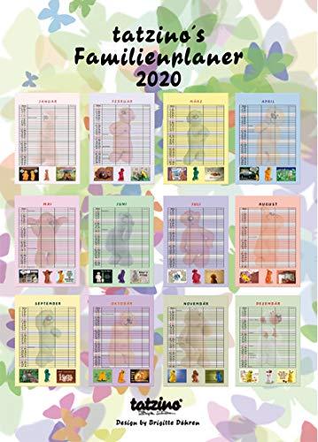Tatzino Kalender 2020 Familien Kinder Planer Terminkalender 3 Spalten Humor 30x42cm