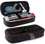 Yuanmeiju New Style Spyair Multifunction Canvas Leather Estuche Pen Bag Makeup Pouch