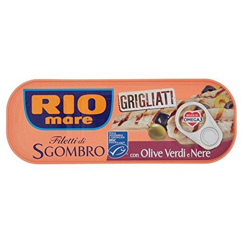 Rio Mare, Filetti Di Sgombro Grigliati Con Olive Verdi E Nere, Ricco Di Omega 3 - 120 g