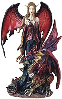 George S. Chen Imports Fairy Collection Pixie with Dragon Fantasy Figurine Figure..