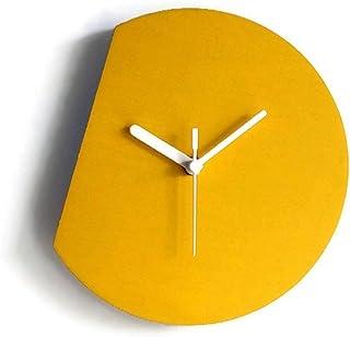 28cm Piccolo orologio da muro silenzioso per salotto colorato come giallo banana Particolari orologi a parete con meccanis...