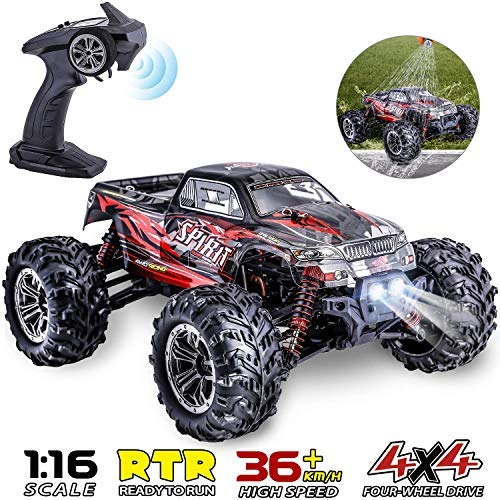 HisHerToy Remote Control Car for Adults Boys Girls Big RC Trucks for Adults IPX4 Waterproof Off Road RC Cars for Adults Kids 1:16 // 36km/h Monster Hobby Cross-Country Buggy with Headlights