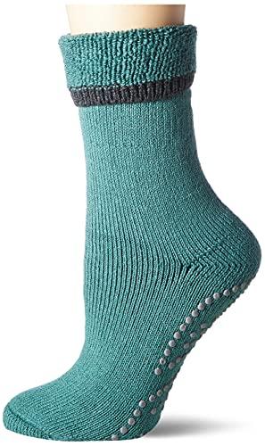 FALKE Damen Cuddle Pads W HP Socken, Grün (Zircon 7343), 39-42 (UK 5.5-8 Ι US 8-10.5)