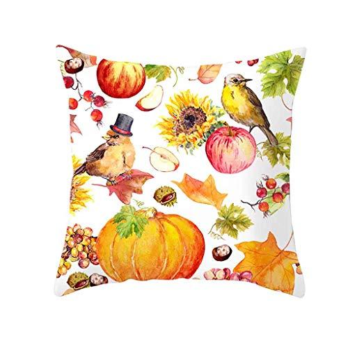 Hurrybuy Kussenhoezen Halloween Decoratieve Kussensloop Hoes Slaapbank Decoratie 18 x 18 Inch