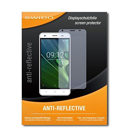SWIDO Schutzfolie für Acer Liquid Z6E [2 Stück] Anti-Reflex MATT Entspiegelnd, Hoher Festigkeitgrad, Schutz vor Kratzer/Bildschirmschutz, Bildschirmschutzfolie, Panzerglas-Folie