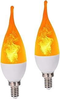 4x Eveready 3W Vacillant Flamme Bougie Ampoule Halloween Lampes E14 E27 B22 B15