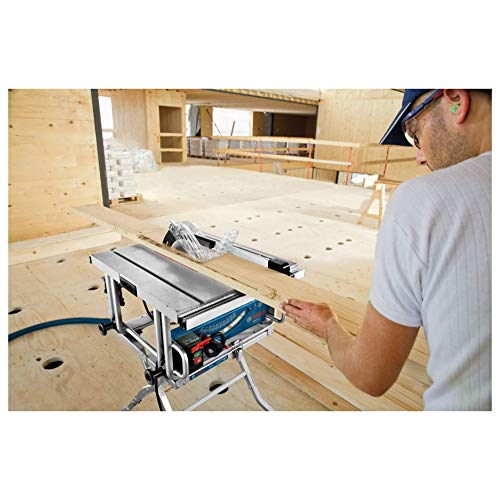 Bosch Professional GTS 10 J, 254 mm Sägeblattdurchmesser, 642 x 572 mm Tischgröße, Absaugadapter, Schiebestock, Sägeblatt, Winkelanschlag, Parallelanschlag - 3