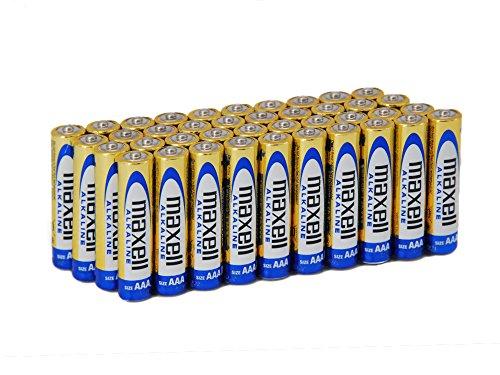 Maxell LR03 - Packung mit 40 AAA Alkaline-Batterien, goldfarben