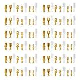 connettori maschio femmina a forcella morsettiera a crimpare kit connettori maschio e femmina a forcella con manicotto isolante per crimpatura cavi elettrici, dorato, 315 pezzi, (2,8 mm 4,8 mm 6,3 mm)