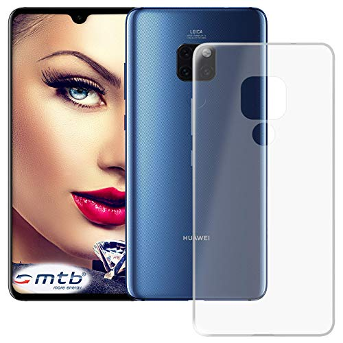 mtb more energy® Custodia Clear & Slim per Huawei Mate 20 (6.53'') | Trasparente | Flessibile | Sottile | TPU Silicone Case Cover