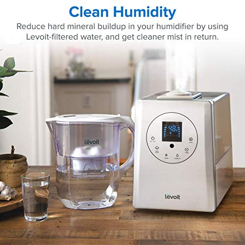 Levoit Cold Air Humidifiers, 6L Cool and Warm Mist Humidifier for Bedroom, Ultrasonic Humidifier for Plants; Remote/Touch Control, Large LED Display, Quiet Essential Oil Diffuser, Customized Humidity, 360° Dual Nozzle, Timer, Auto Shut-Off, LV 600HH
