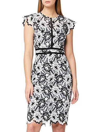 Marca Amazon - TRUTH & FABLE Vestido Midi de Encaje Mujer, Multicolor (Multicolour Multicolour), 46, Label: XXL