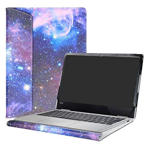 Alapmk Diseñado Especialmente La Funda Protectora de Cuero de PU para 13.3' Lenovo Yoga 730 13 730-13IKB Ordenador portátil,Galaxy