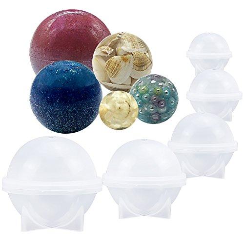 Musykrafties, runde Silikonform für Epoxidharz, die Schmuckherstellung, selbstgegossenes Kerzenwachs, selbstgemachte Seife oder Badebomben, 5-size pack ( 0.8, 1.2, 1.6, 2, 2.4 inch )