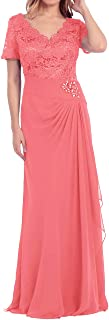 Mother of The Bride Dress Beaded Lace Prom Evening Gowns