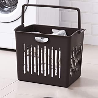 PPCP Storage Box Laundry Bucket Home Floor Bathroom Sewage Storage Box (Color : Brown)