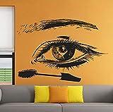 Etiqueta de la pared etiqueta de PVC de alta calidad 57 X 40 cm corte de pelo tijeras de afeitar salón de belleza barbería peluquería mural de la pared