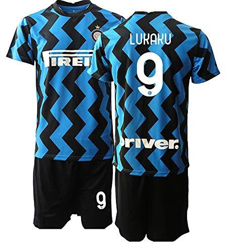 JEEG 20/21 Kinder LUKAKU 9# Fußball Trikot Jugend Trainings Anzug T-Shirt Set (Kinder Größe 4-13 Jahre) (20)