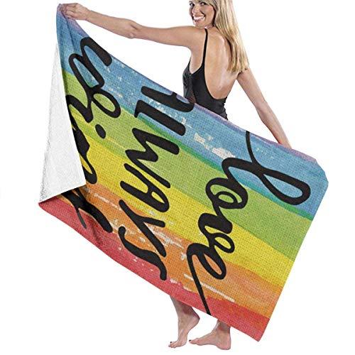 Toallas de baño Love Wins Beach Travel Súper Absorbente Alfombra de Toalla Extra Larga para baño Unisex para Correr