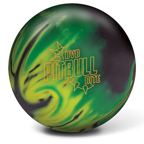 DV8 Pitbull Bite Bowling Ball Black/Yellow/Green, 12lbs