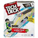 TECH DECK, Build-A-Park World Tour, Flamengo Park (Brazil), Ramp Set with DGK Skateboards Dwayne Fagundes Republic Signature Fingerboard
