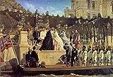 Kunst für Alle Impresión artística/Póster: Cesare Felix DELL Acqua Ankunft Der Kaiserin Elisabeth in Miramare - Impresión, Foto, póster artístico, 95x65 cm