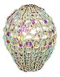 Scelta di colori cristallo lampadario vetro perline lampada lampadina GLS Lampadina copertura manicotto ciondolo meglio di paralume luce gocce kitsch ispirato Vetro Aurora Borealis 60.00W