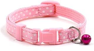 haoricu Pet Collars, Collars Pet Supplies Polka Dot Cat Collars Pendant Necklace for Dog Adjustable Dog Collar Colliers