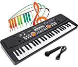 LYBALL Kids Keyboard 49-Key Rechargable Electronic Piano Toy Dual...