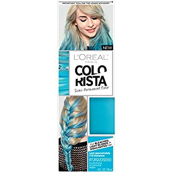 L Oreal Paris Colorista Semi-Permanent Hair Color for Light Blonde or Bleached Hair Turquoise